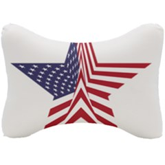 A Star With An American Flag Pattern Seat Head Rest Cushion by Samandel