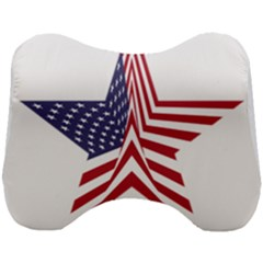 A Star With An American Flag Pattern Head Support Cushion