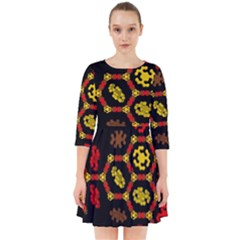 Algorithmic Drawings Smock Dress