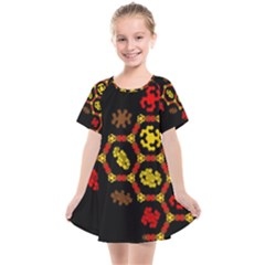 Algorithmic Drawings Kids  Smock Dress