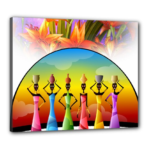 African American Women Canvas 24  X 20  (stretched) by AlteredStates