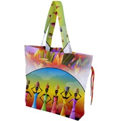 African American Women Drawstring Tote Bag by AlteredStates