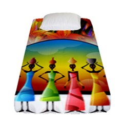 African American Women Fitted Sheet (single Size) by AlteredStates