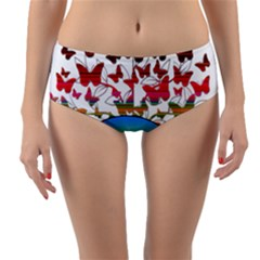African Americn Art African American Women Reversible Mid Waist Bikini Bottoms by AlteredStates