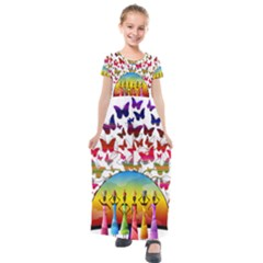 African Americn Art African American Women Kids  Short Sleeve Maxi Dress by AlteredStates