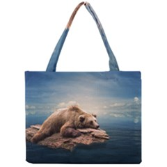 Bear Water Mini Tote Bag by AnjaniArt
