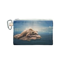 Bear Water Canvas Cosmetic Bag (small)