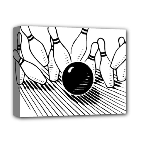 Bowling Ball Sport Deluxe Canvas 14  X 11  (stretched) by AnjaniArt