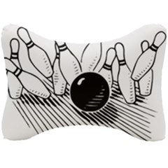 Bowling Ball Sport Seat Head Rest Cushion by AnjaniArt