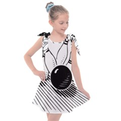 Bowling Ball Sport Kids  Tie Up Tunic Dress