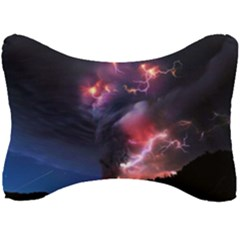 Volcano Lightning Wallpapers Flash Strom Seat Head Rest Cushion by AnjaniArt