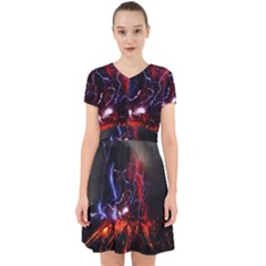 Volcanic Lightning Eruption Adorable In Chiffon Dress