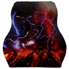 Volcanic Lightning Eruption Car Seat Velour Cushion