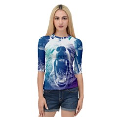 Bear Grizzly Wallpaper Quarter Sleeve Raglan Tee