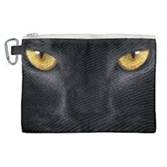 Face Black Eye Cat Canvas Cosmetic Bag (xl) by AnjaniArt