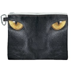 Face Black Eye Cat Canvas Cosmetic Bag (xxl) by AnjaniArt
