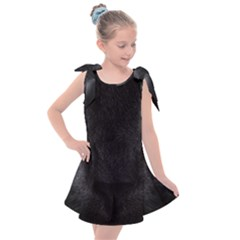 Face Black Eye Cat Kids  Tie Up Tunic Dress