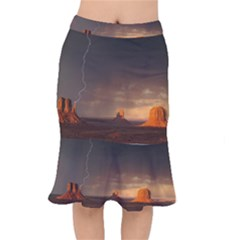 Desert Lighting Strom Flash Mermaid Skirt