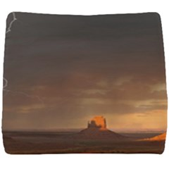 Desert Lighting Strom Flash Seat Cushion by AnjaniArt