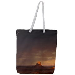 Desert Lighting Strom Flash Full Print Rope Handle Tote (large) by AnjaniArt