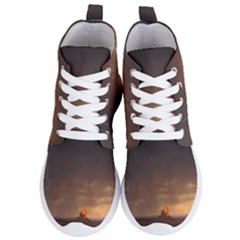 Desert Lighting Strom Flash Women s Lightweight High Top Sneakers by AnjaniArt