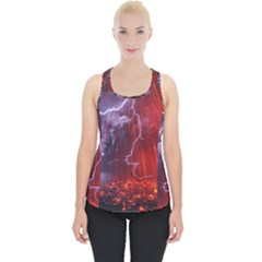 Fire Volcano Lightning Montain Wallpapers Piece Up Tank Top