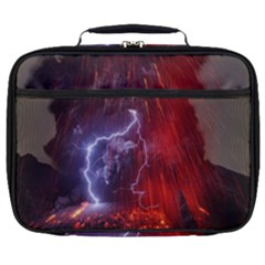 Fire Volcano Lightning Montain Wallpapers Full Print Lunch Bag by AnjaniArt