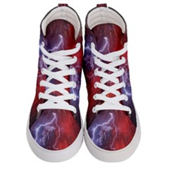Fire Volcano Lightning Montain Wallpapers Men s Hi Top Skate Sneakers