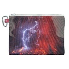 Fire Volcano Lightning Montain Wallpapers Canvas Cosmetic Bag (xl) by AnjaniArt