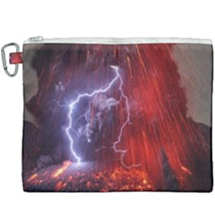 Fire Volcano Lightning Montain Wallpapers Canvas Cosmetic Bag (xxxl) by AnjaniArt