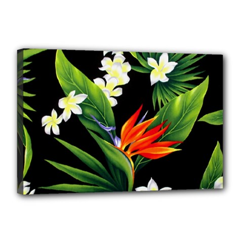 Frangipani Flower Canvas 18  X 12  (stretched) by AnjaniArt