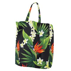 Frangipani Flower Giant Grocery Tote