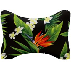 Frangipani Flower Seat Head Rest Cushion by AnjaniArt