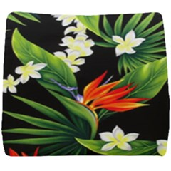 Frangipani Flower Seat Cushion by AnjaniArt