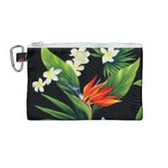 Frangipani Flower Canvas Cosmetic Bag (medium) by AnjaniArt