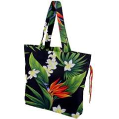 Frangipani Flower Drawstring Tote Bag by AnjaniArt
