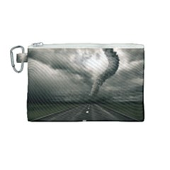 Hurricane Canvas Cosmetic Bag (medium) by AnjaniArt