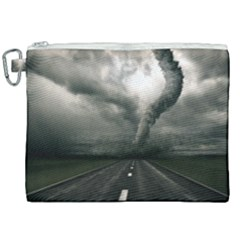 Hurricane Canvas Cosmetic Bag (xxl) by AnjaniArt