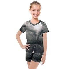 Hurricane Kids  Mesh Tee And Shorts Set