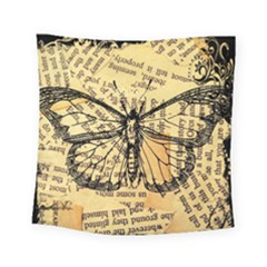 Vintage Butterfly Art Antique Square Tapestry (small)