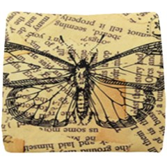 Vintage Butterfly Art Antique Seat Cushion
