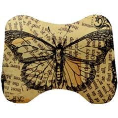 Vintage Butterfly Art Antique Head Support Cushion