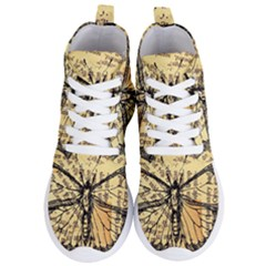 Vintage Butterfly Art Antique Women s Lightweight High Top Sneakers