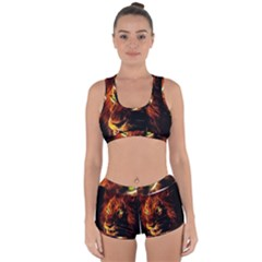 King Lion Wallpaper Animals Racerback Boyleg Bikini Set