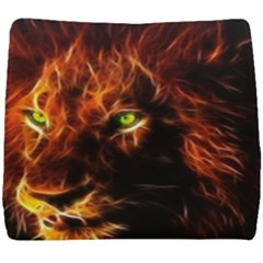 King Lion Wallpaper Animals Seat Cushion by AnjaniArt
