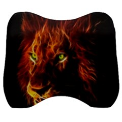 King Lion Wallpaper Animals Velour Head Support Cushion by AnjaniArt