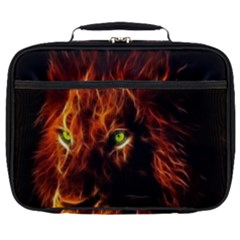 King Lion Wallpaper Animals Full Print Lunch Bag by AnjaniArt
