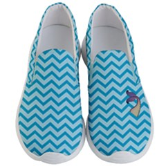 Chevron Mermaid Pattern Men s Lightweight Slip Ons