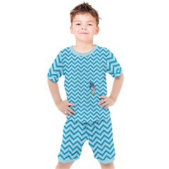 Chevron Mermaid Pattern Kid s Set