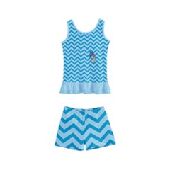 Chevron Mermaid Pattern Kid s Boyleg Swimsuit
